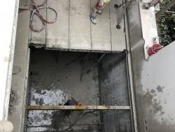Afbraakwerk in vloer met wandzaag