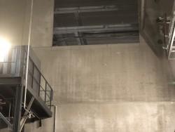 Opening zagen in muur op hoogte